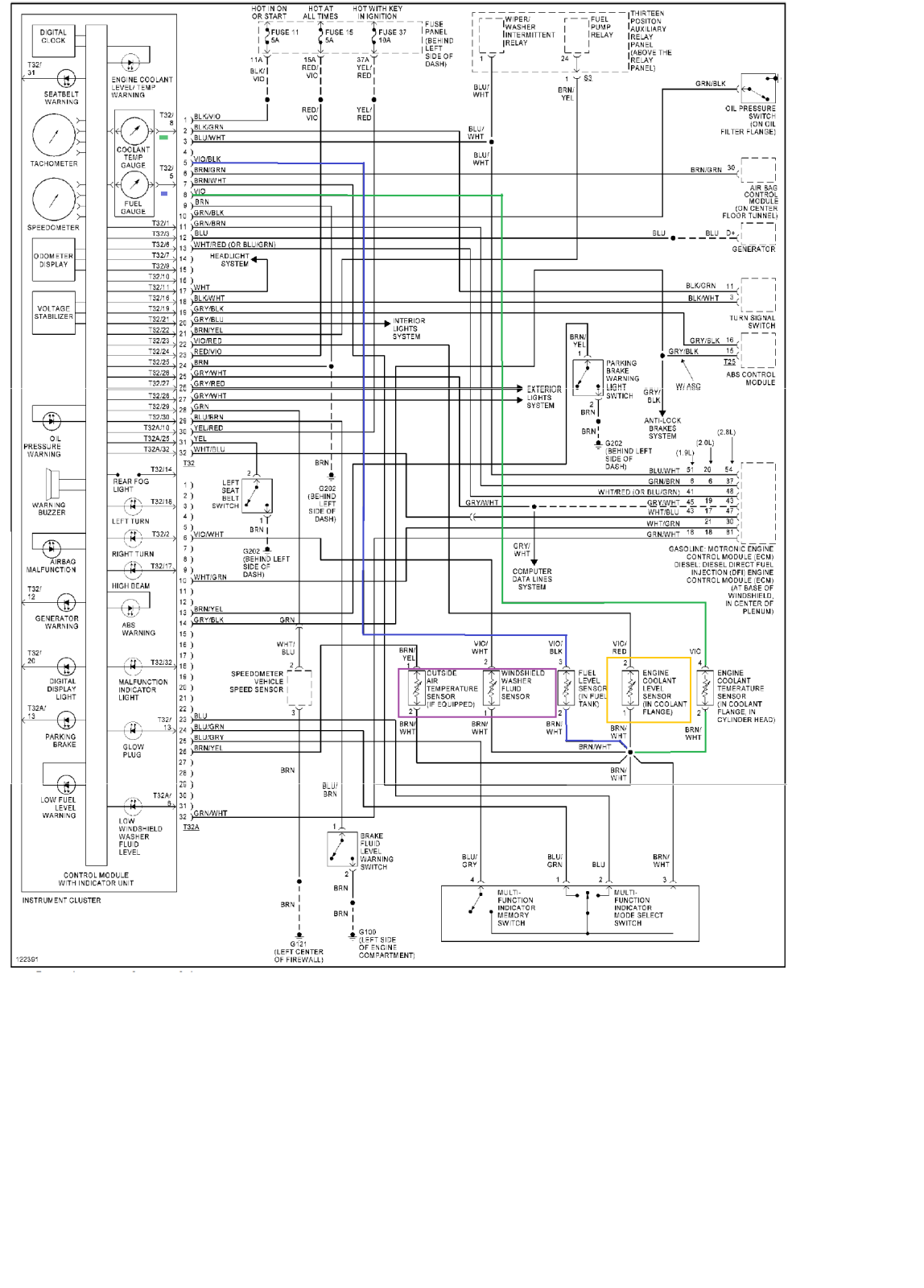Mk3 Golf Wiring Diagram Great Design Of 2001 Vw Alternator Instrument Cluster Get Free Image