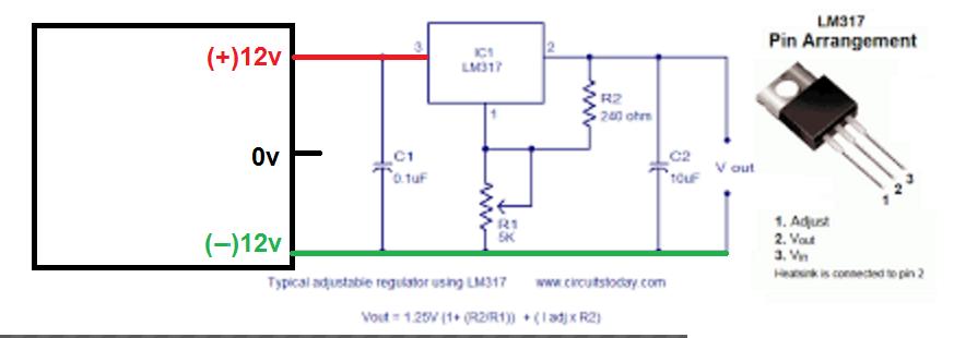 Circuito Lm317 : Solucionado regular voltaje con lm esquema yoreparo