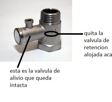 Colocacion termotanque electrico sistema de aire for Valvula de seguridad termo electrico