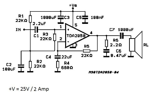 solucionado  amplificador de sonido para dos parlantes de