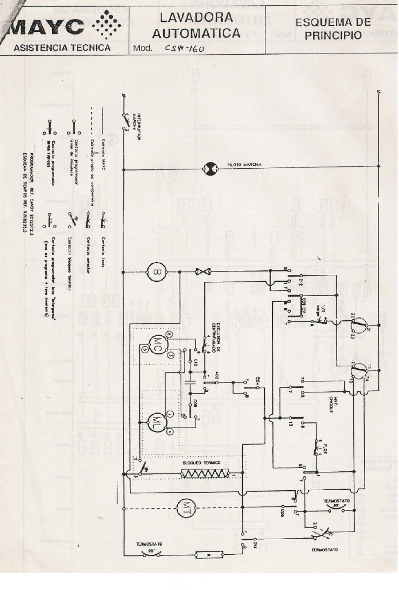 Conecciones De Programador De Lavarropas Coventry Gcs600
