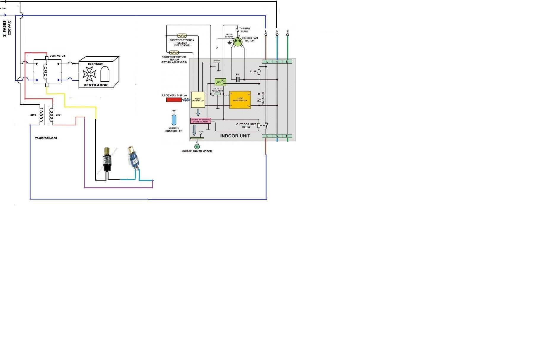 solucionado  coneccion de bomba de agua para aire acondicionado de 18000