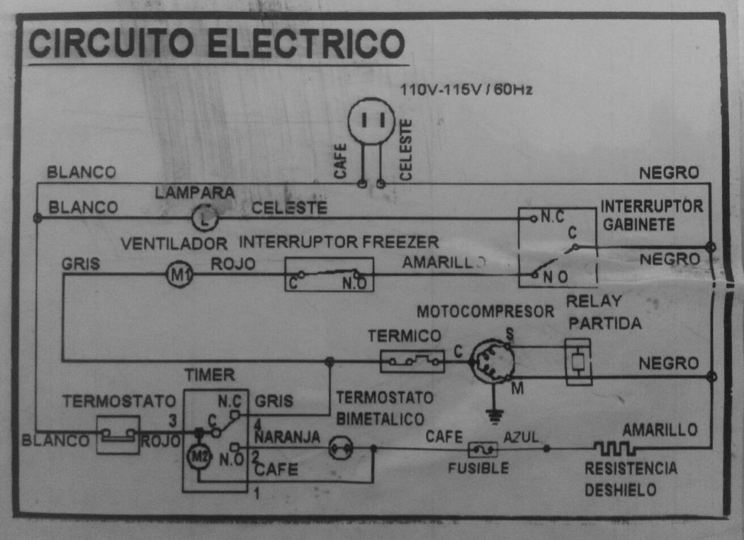 Circuito Electrico Heladera Comercial : Nevera puertas horizontales magic queen evolution b