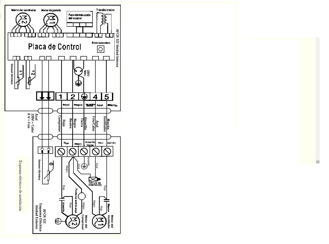 Circuito Ventilador : Quiero saber el circuito de aire acondicionado t reparacion de