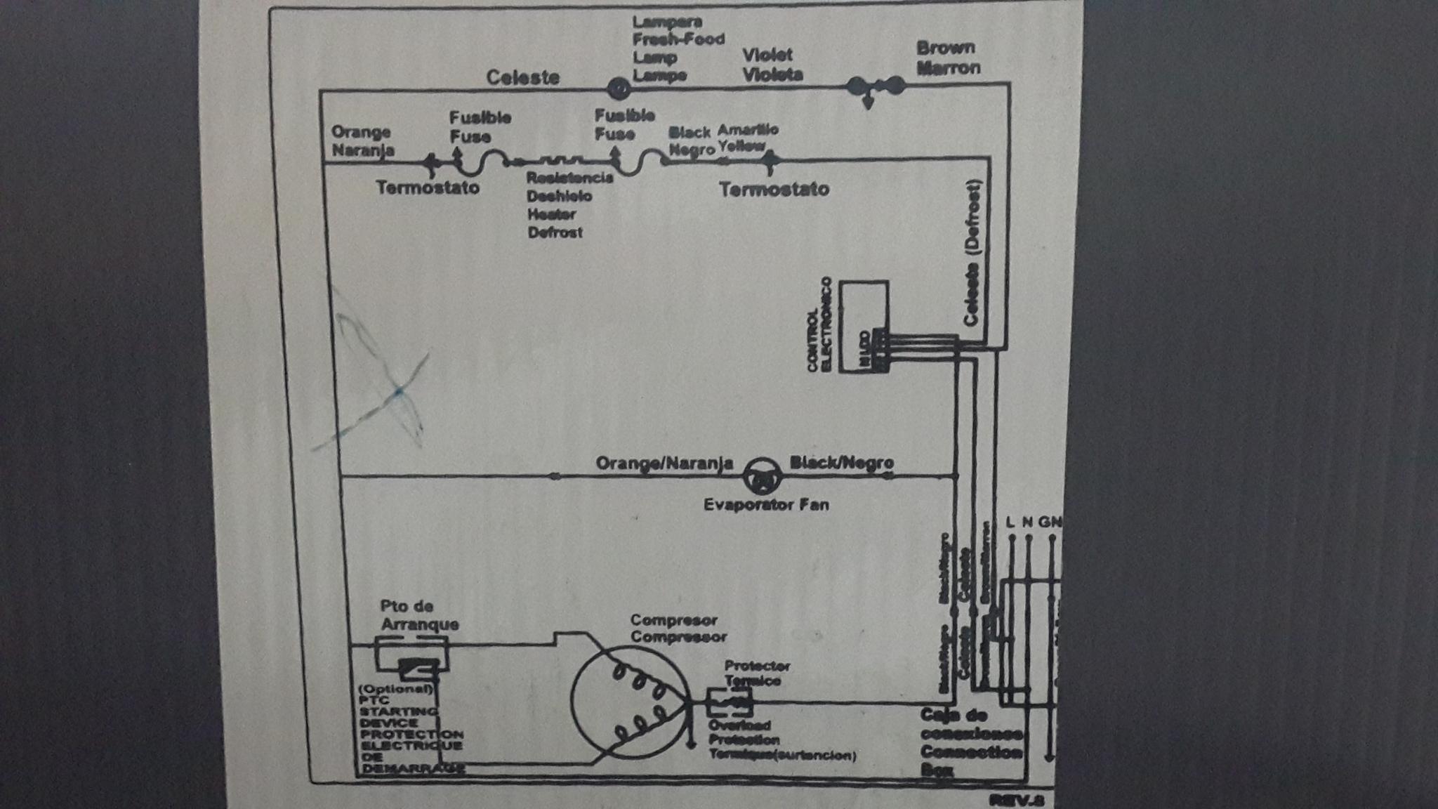 Circuito Electrico Heladera Comercial : Heladera patrick hpk no frost forma hielo yoreparo