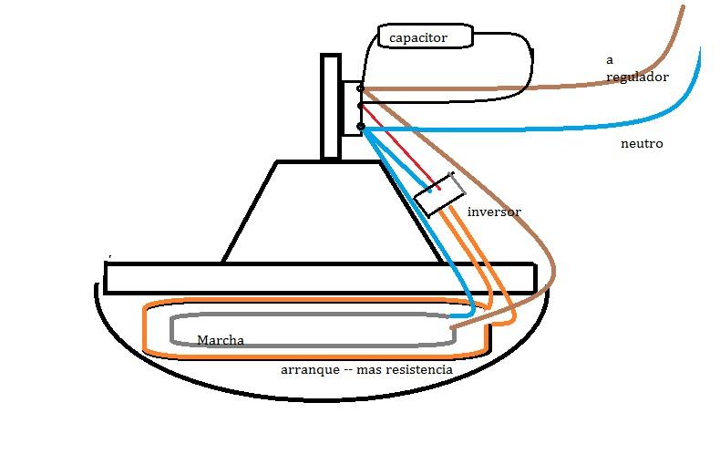 Solucionado conexion capacitor ventilador de techo yoreparo - Como instalar un ventilador de techo con luz ...