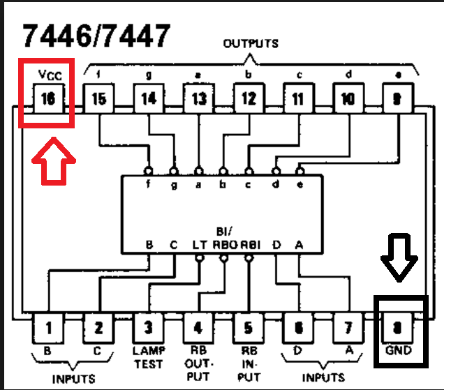 solucionado  contador con ne555  ns74ls90 y ns7447 no