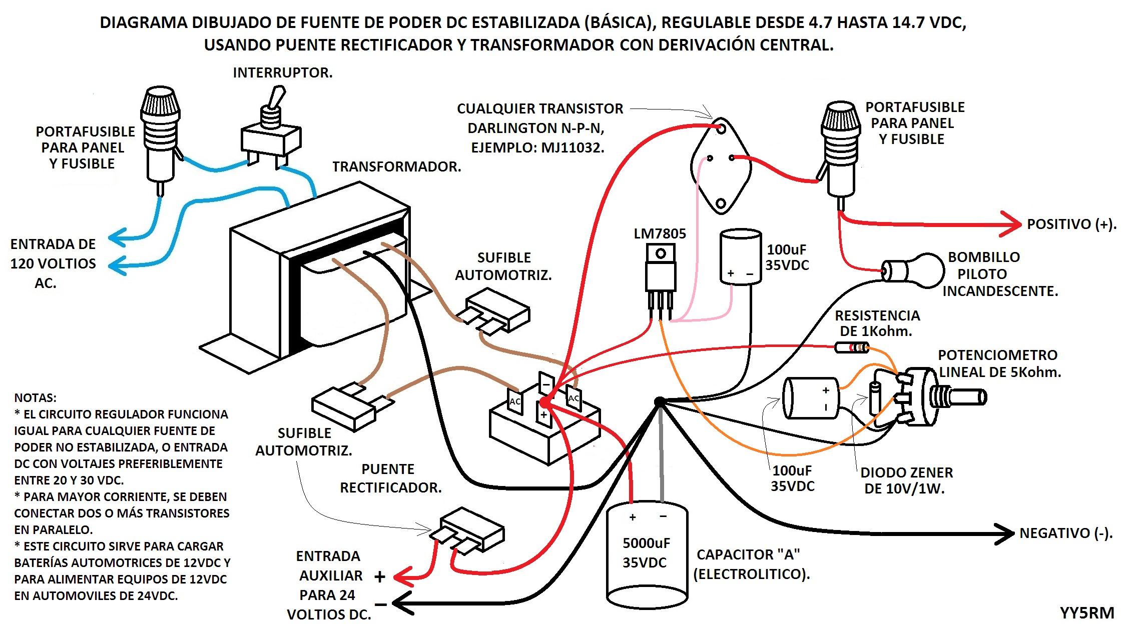 Circuito Zener : Regulador de voltaje electrónica y circuitos yoreparo