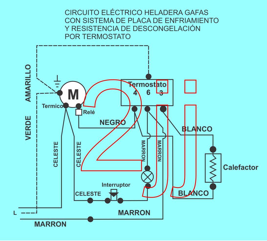 Circuito Electrico Heladera Comercial : Conexión termostato heladera gafa hgf yoreparo
