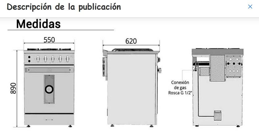 Instalar cocina morelli versus instalar una longvie for Cocina industrial medidas