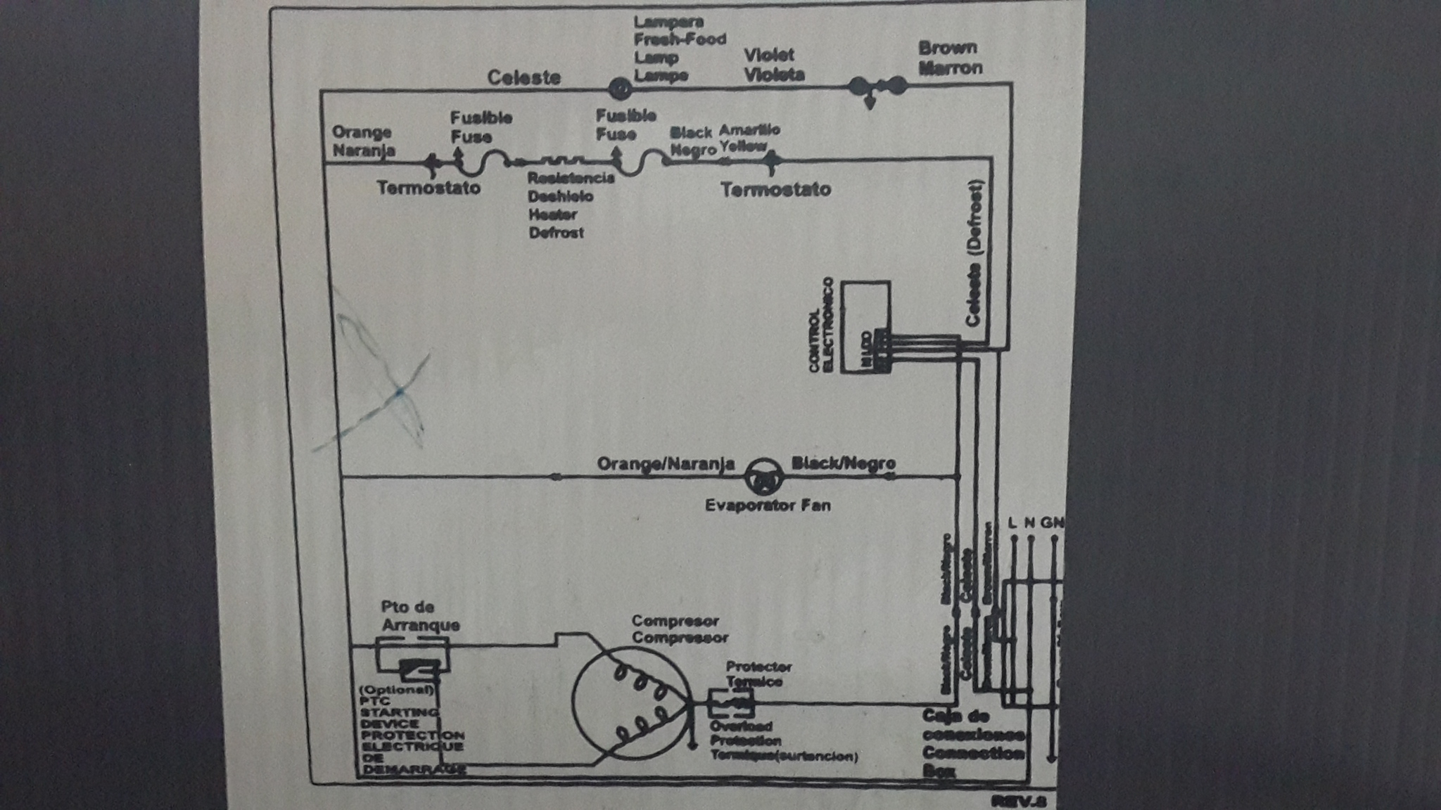 Circuito Electrico Heladera Comercial : Solucionado ayuda dibujo plaqueta heladera yoreparo