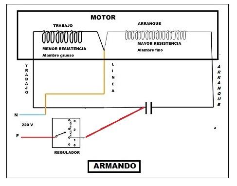Solucionado conexion de motor ventilador de techo 4 cables yoreparo - Motores de ventiladores de techo ...