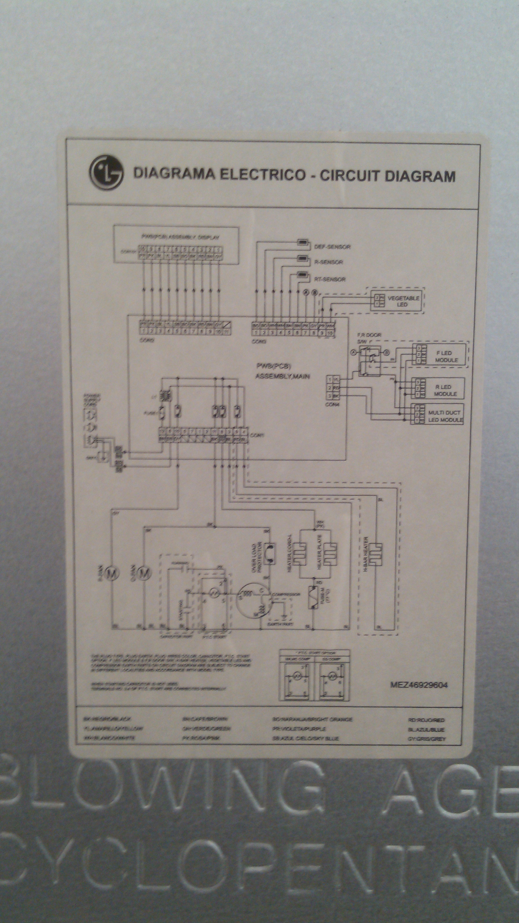 refrigerador LG MB582ULV diagrama electronico - Reparacion de ...