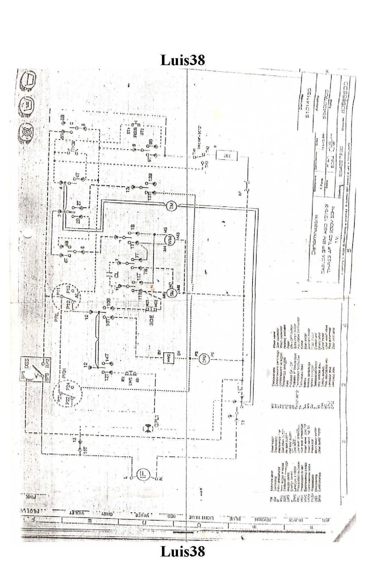 solucionado diagrama circuito el u00e9ctrico lavarropas