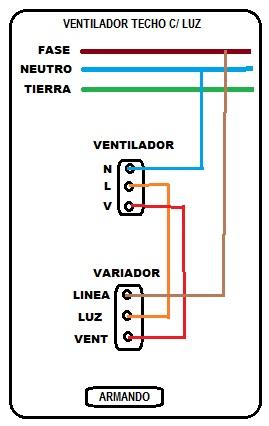 Solucionado como instalar ventilador de techo con - Instalar lampara techo ...