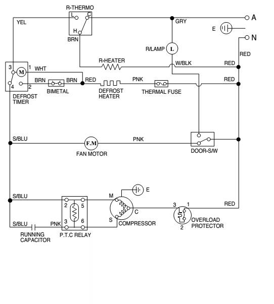 Circuito Electrico Heladera Comercial : Manual o fotos refrigerador blue point br a yoreparo