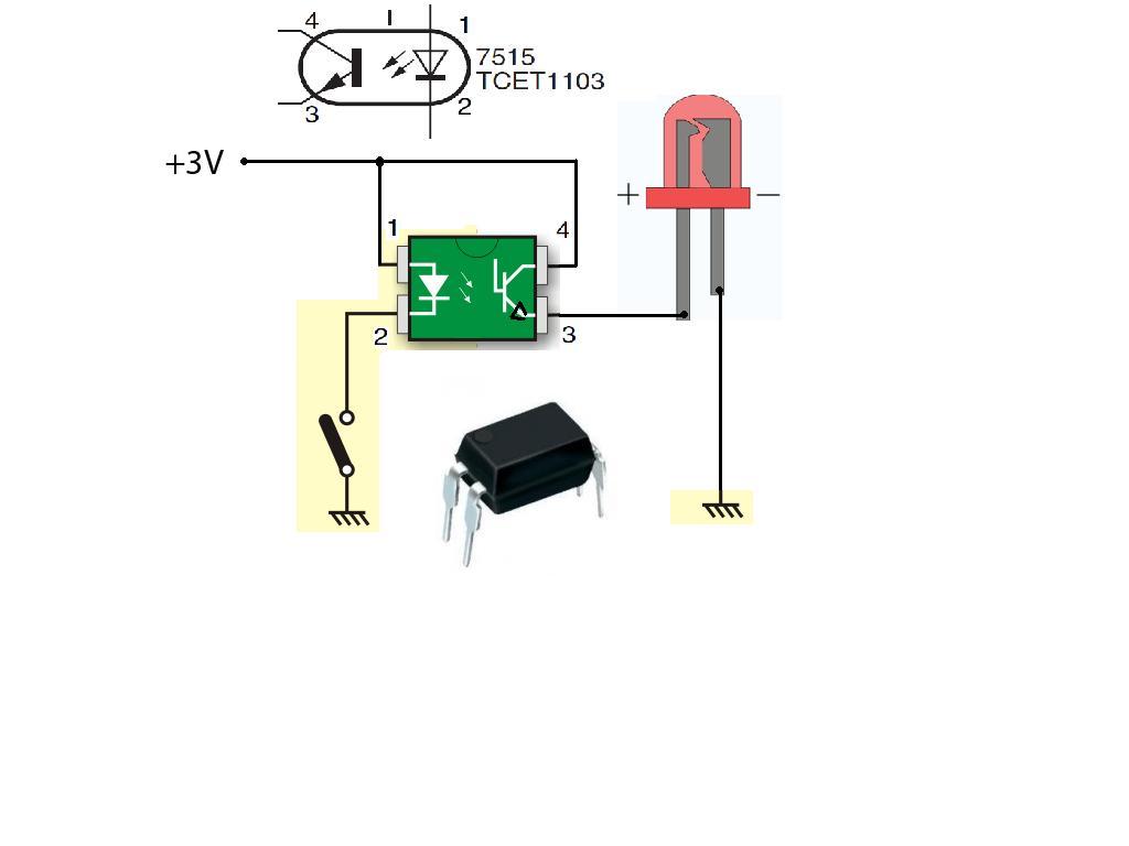 Circuito Optoacoplador : Solucionado: duda sobre prueba en optoacoplador pc817 reparacion