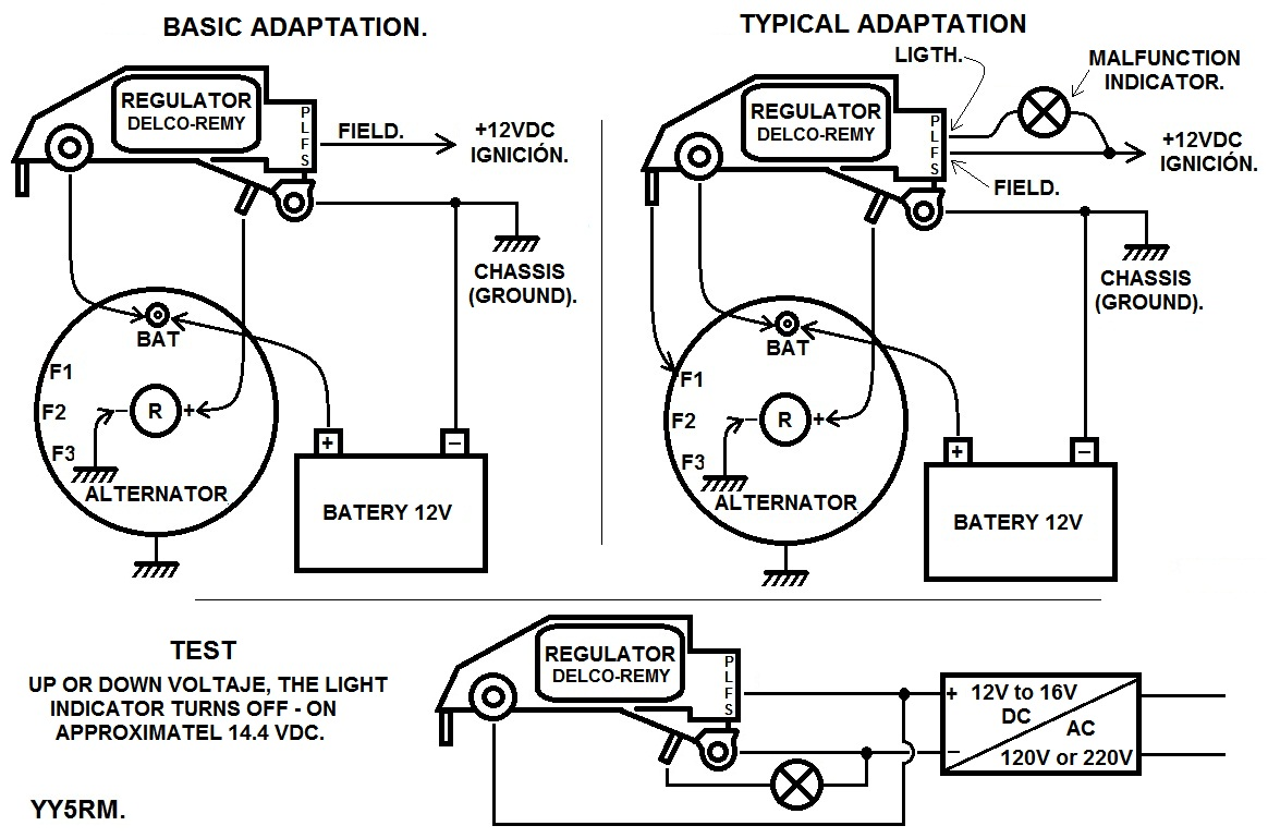 Delco Remy Alternator Wiring Diagram Internal in addition Delco Remy 3 Wire Alternator Wiring Diagram moreover Alternador Toyota Hilux 1997 T1575862 together with 1965 Mustang Wiring Diagrams in addition Chrysler Sebring Alternator Location. on alternator external regulator wiring diagram