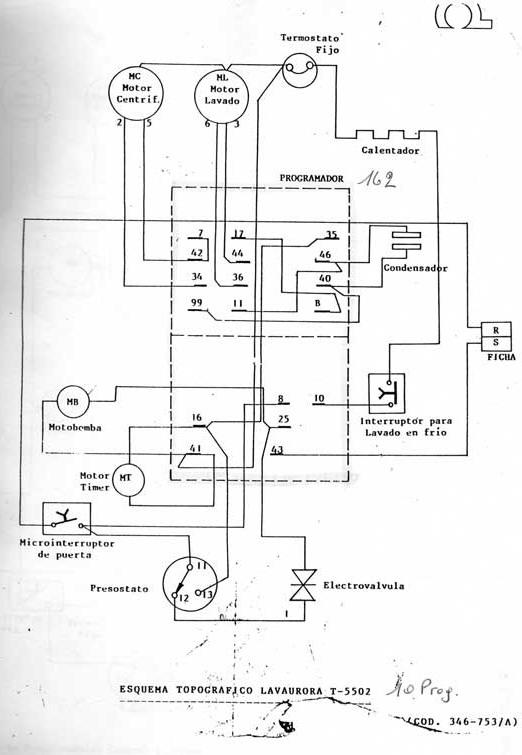 Solucionado  Circuito O Diagrama De Lavarropas Aurora T