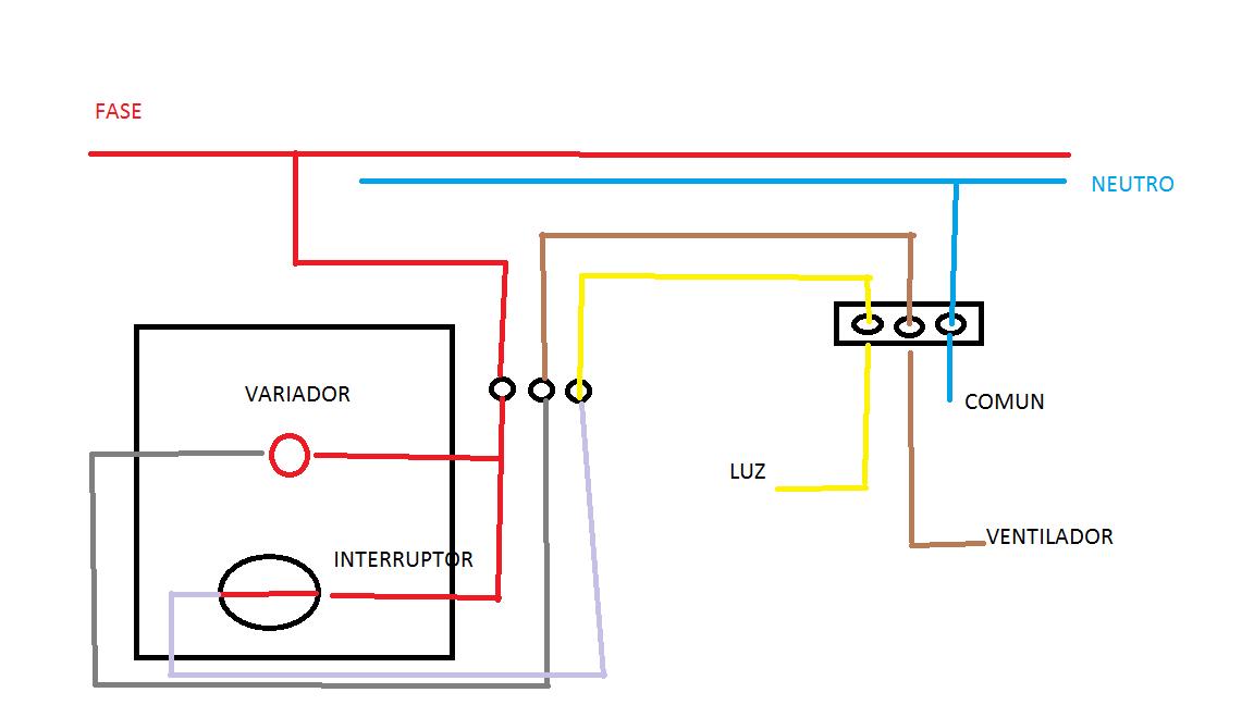 Conexion electrica ventilador de techo yoreparo - Como instalar un ventilador de techo con luz ...