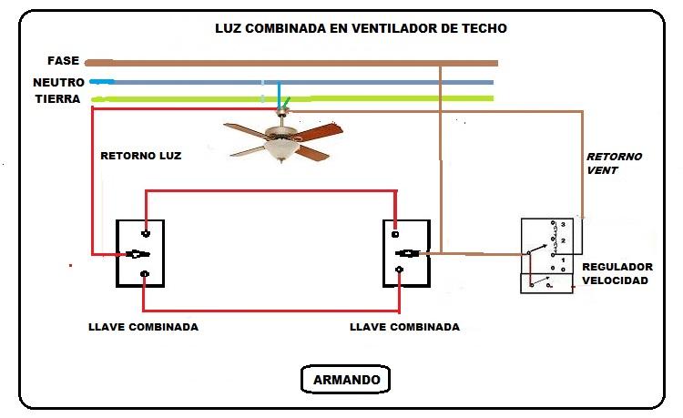 Solucionado: Ventilador de techo con llave combinada ...