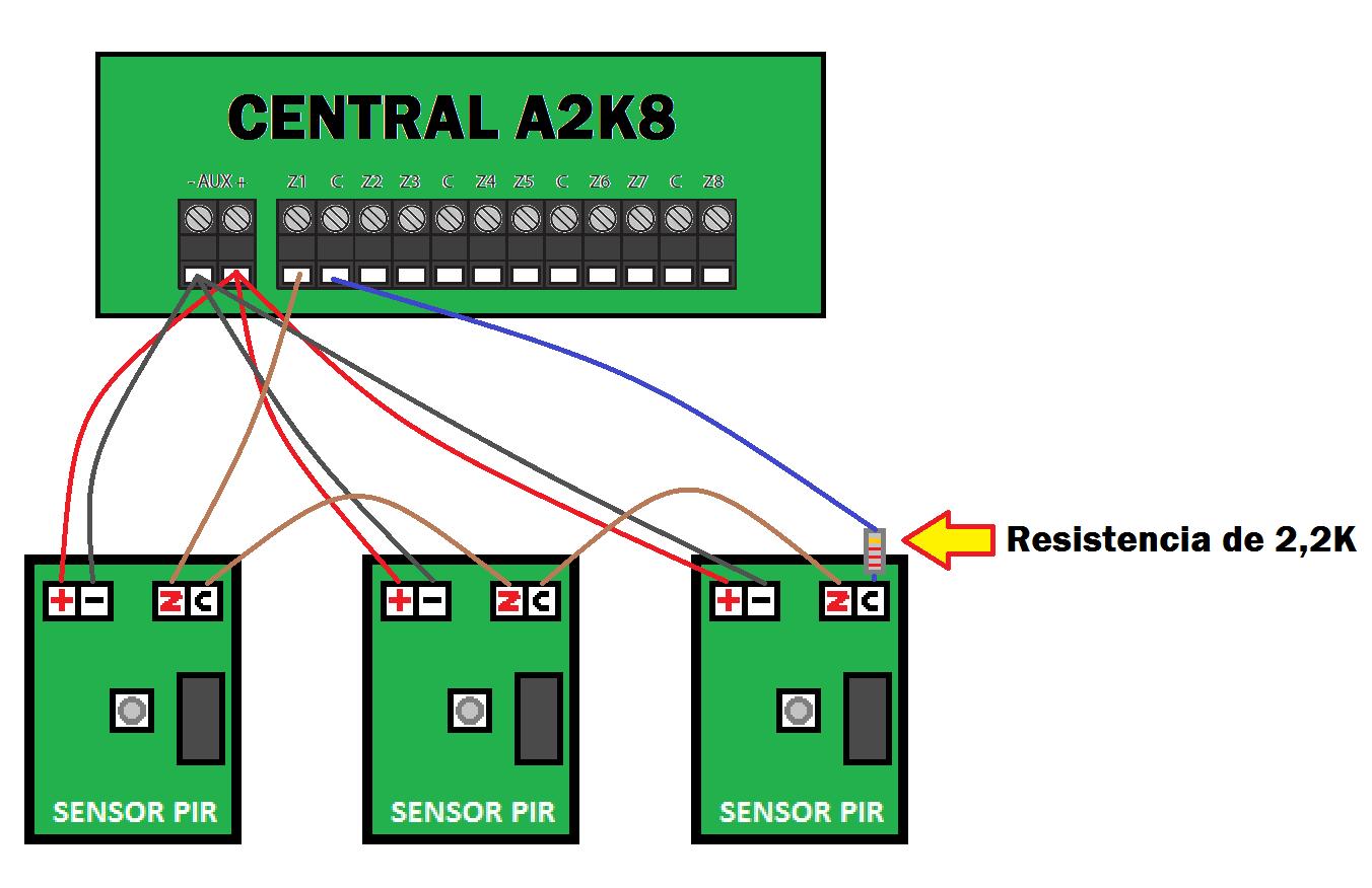 Solucionado consulta instalacion de detector de rotura de - Como conectar un sensor de movimiento de tres cables ...