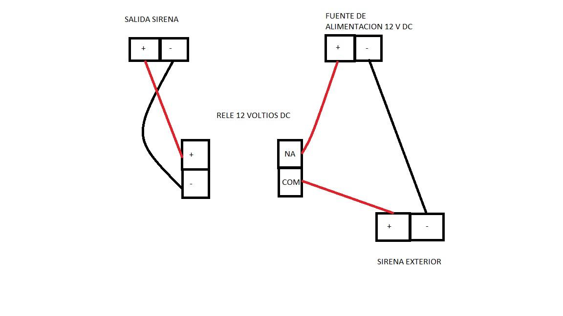solucionado  conexion de una sirena externa