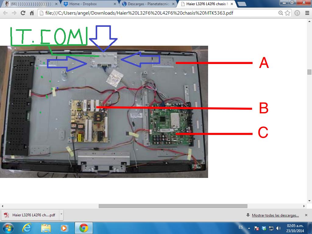 Solucionado tv lcd marca haier modelo l26f6 se escucha for Mi televisor se escucha pero no se ve la imagen