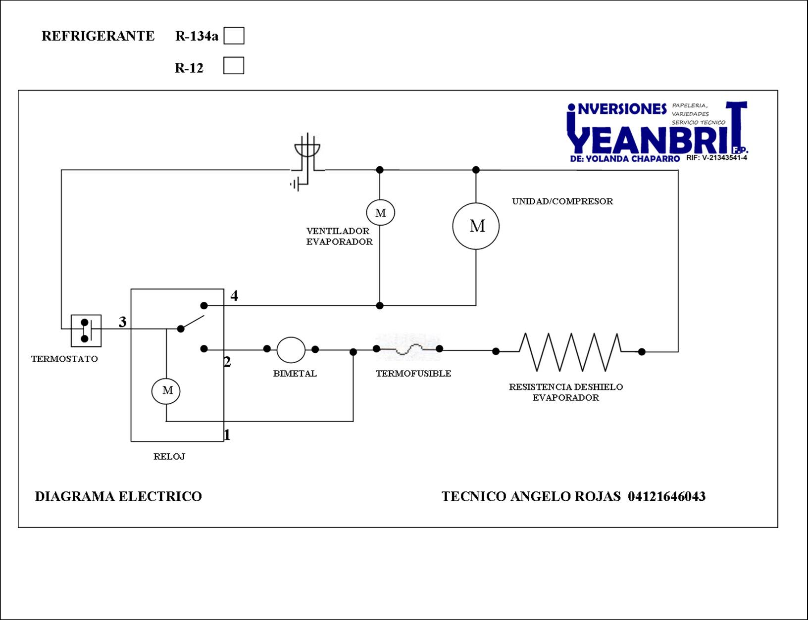 Circuito Electrico Heladera Comercial : Solucionado heladera con placa quenada yoreparo