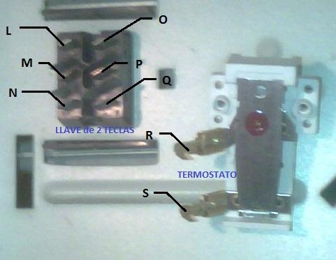 Estufa electrica radiador como conectar cables circuito for Como instalar una terma electrica