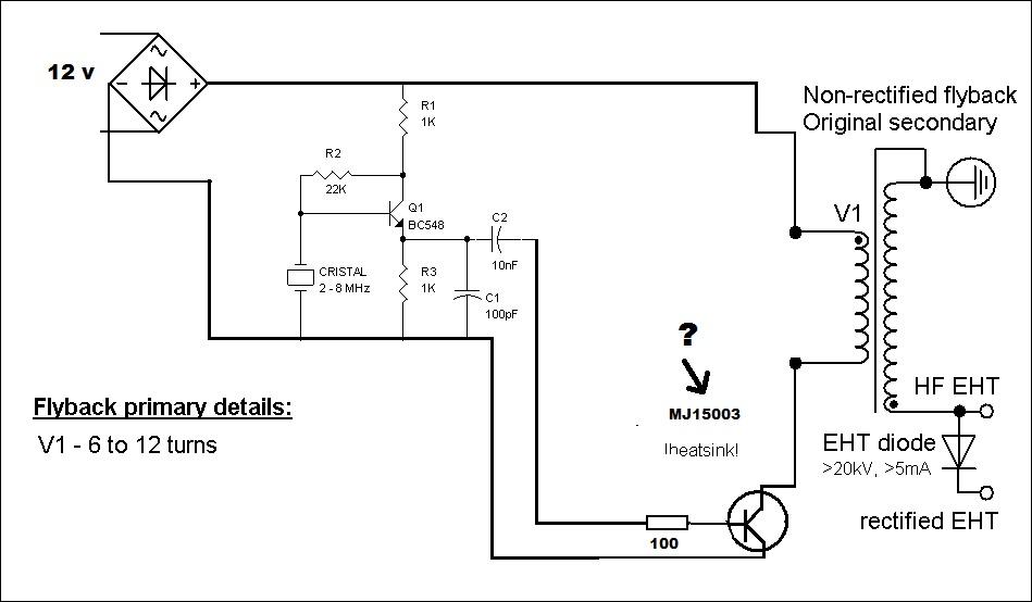 Circuito Bobina De Tesla : Bobina tesla con flyback hojas de datos componentes