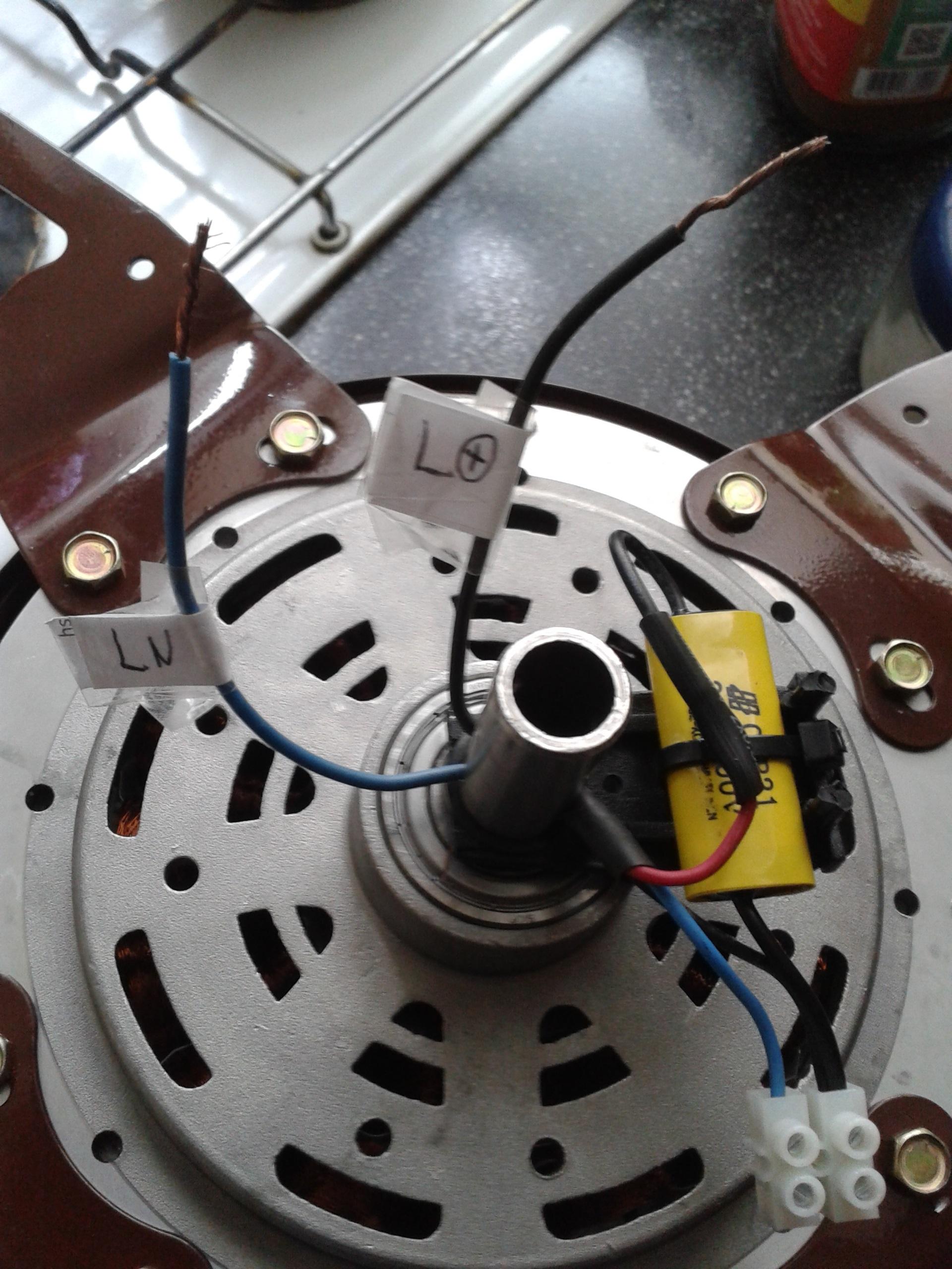 Instalacion de capacitor ventilador de techo - Motores de ventiladores de techo ...