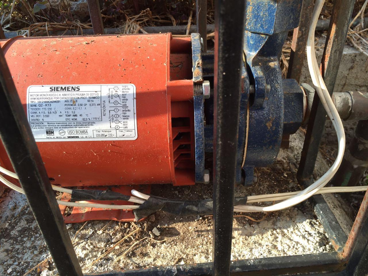 Solucionado como reparar una bomba de agua siemens 1 2 hp for Bomba de agua siemens