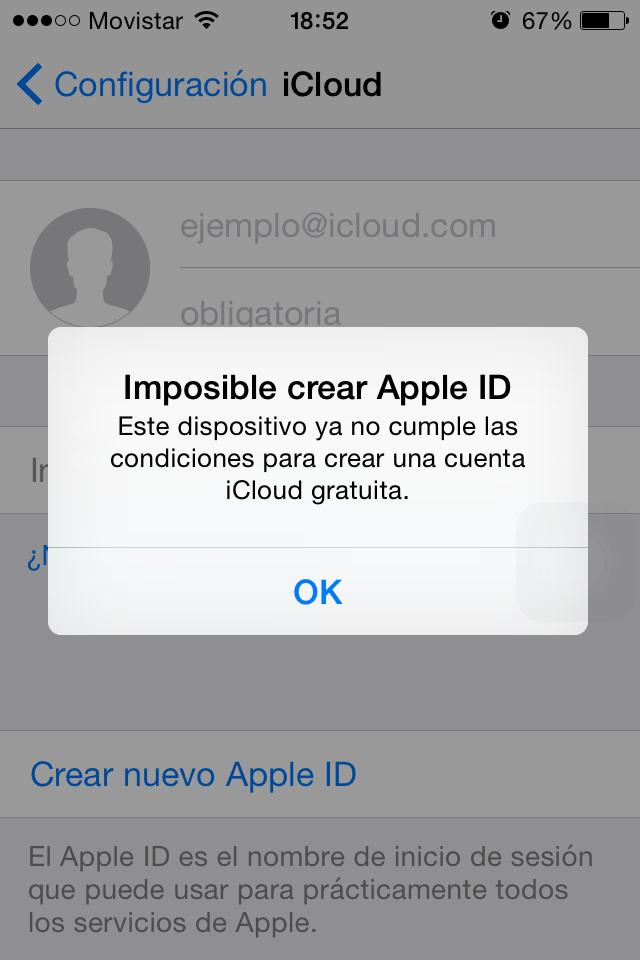 Crear cuenta icloud iphone 5 gratis