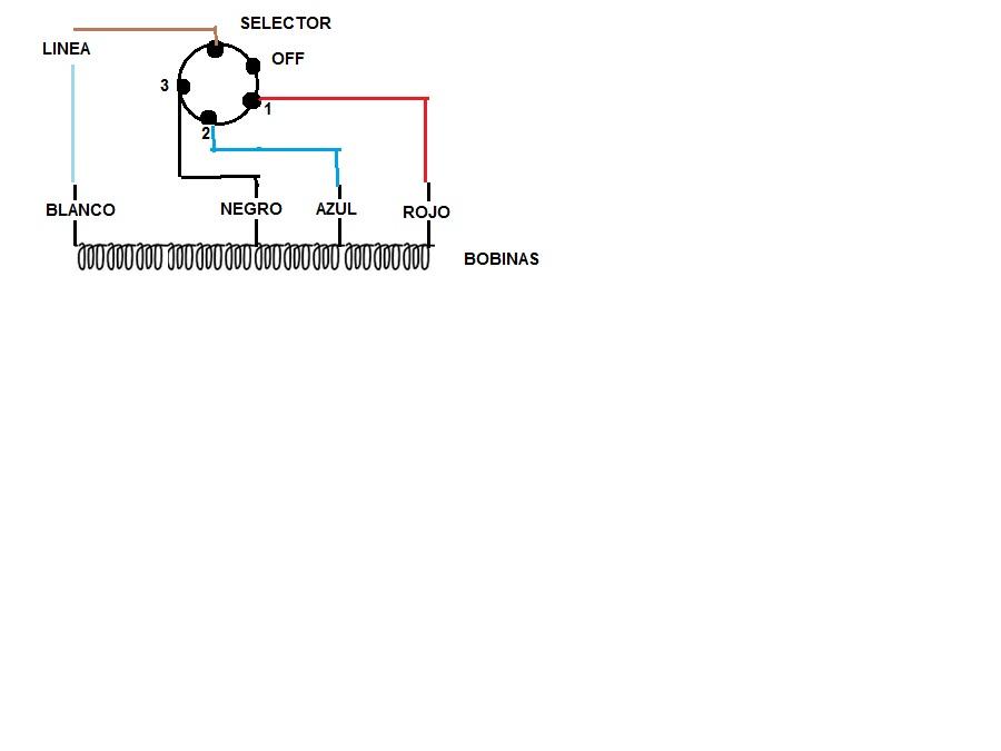 Circuito Que Recorre La Electricidad Desde Su Generación Hasta Su Consumo : Circuito de ventilador velocidades conexión selector