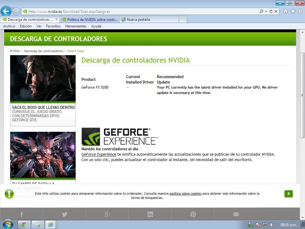 geforce fx 5200 windows 7 drivers