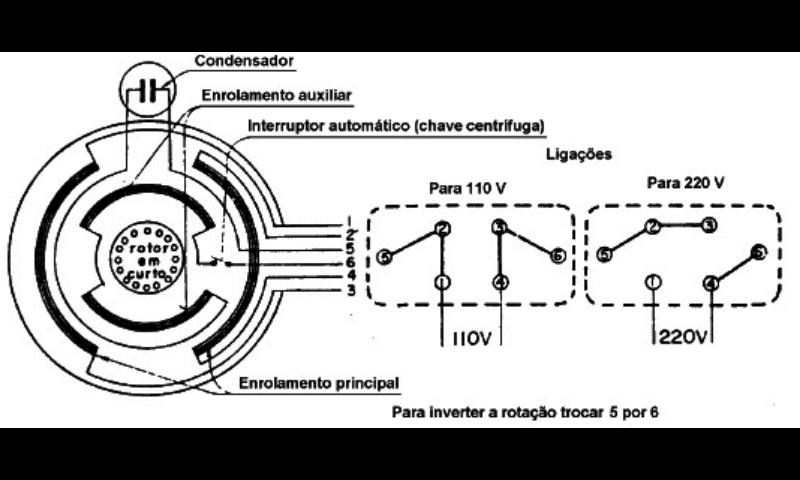 necesito un diagrama de conexione de un motor monofasico