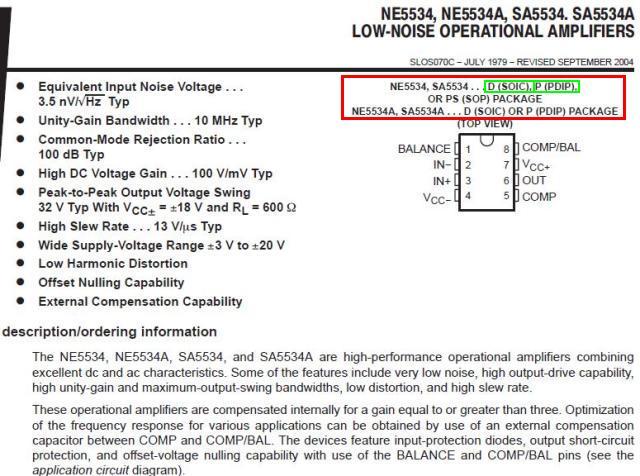 Solucionado: Duda sobre si el Semiconductor NE5534D se puede