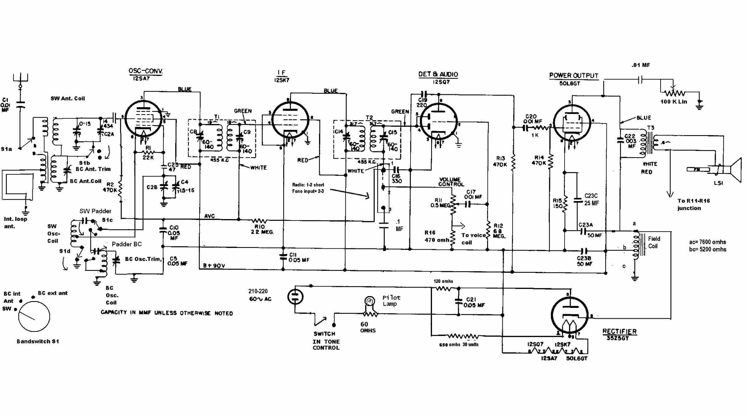 Circuito General : Radio general electrics yoreparo