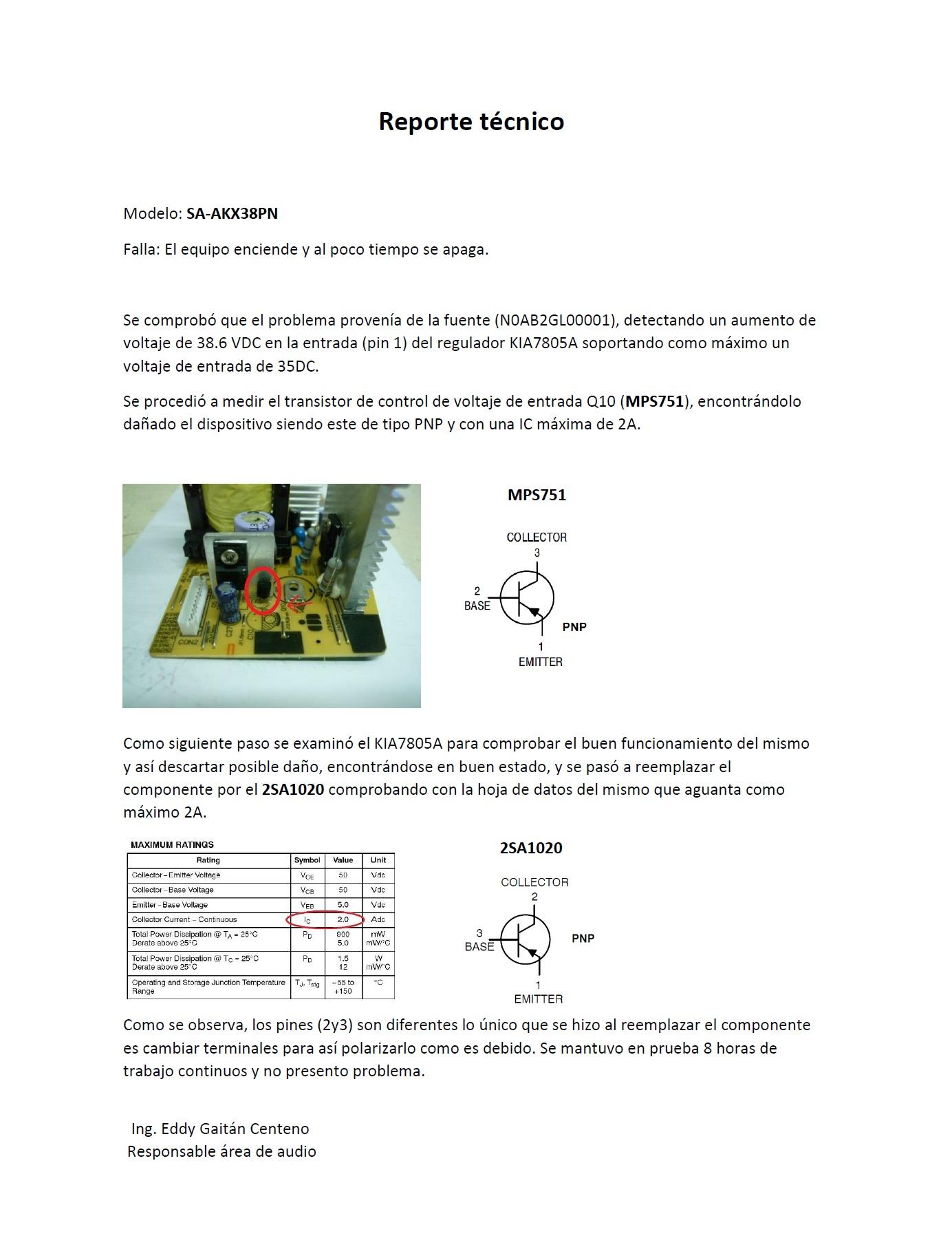 Solucionado  Equipo Sonido Panasonic Modelo Sa