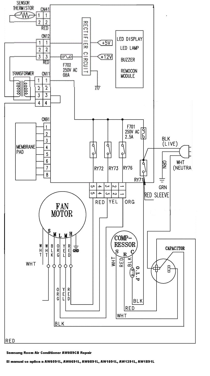 circuito electrico de aire acondicionado inverter