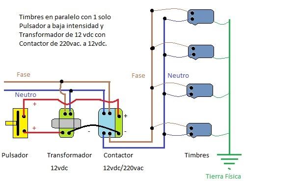 Circuito Zumbador Piezoelectrico : Como hacer un zumbador una conexion de timbre