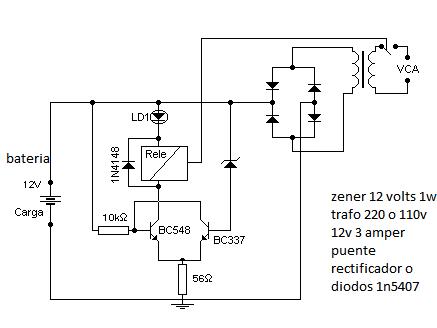 solucionado esquema cargador autom tico bater a 12v electr nica y rh yoreparo com