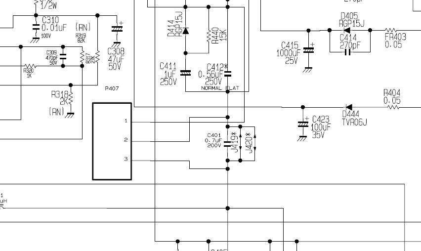 Solucionado  Duda De Condensador El C411 En Tv Lg 29fs4rk Chasis Cw-62a