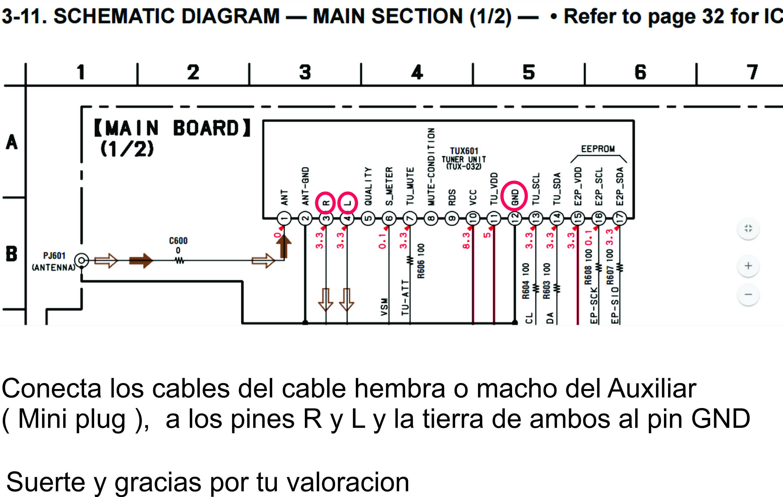 coneccion al radio mini plug sony CDX R3300S como crear entrada auxilar a sony cdx r3300 yoreparo sony cdx-r3300 wiring diagram at mifinder.co