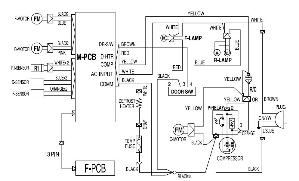 solucionado  diagrama electrico nevera daewoo fr