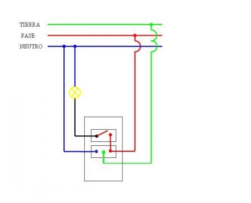 Circuito mal conectado armado yoreparo - Enchufe y interruptor ...