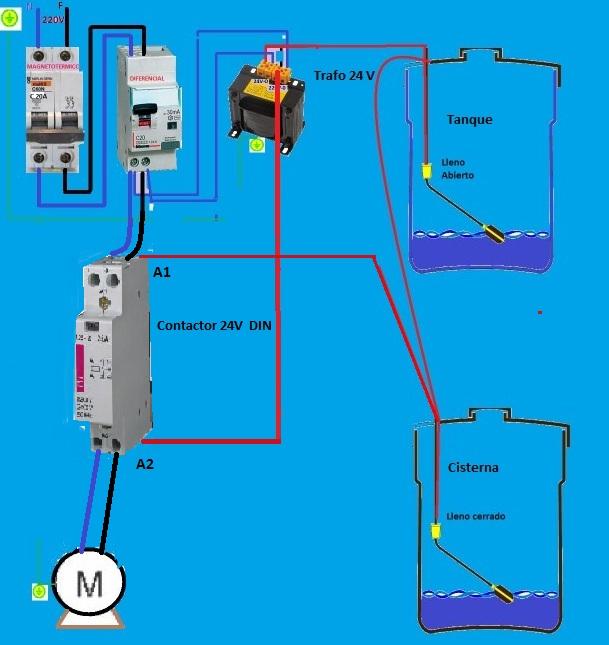 Circuito Tanque : Intalacion de bomba para clorar agua yoreparo