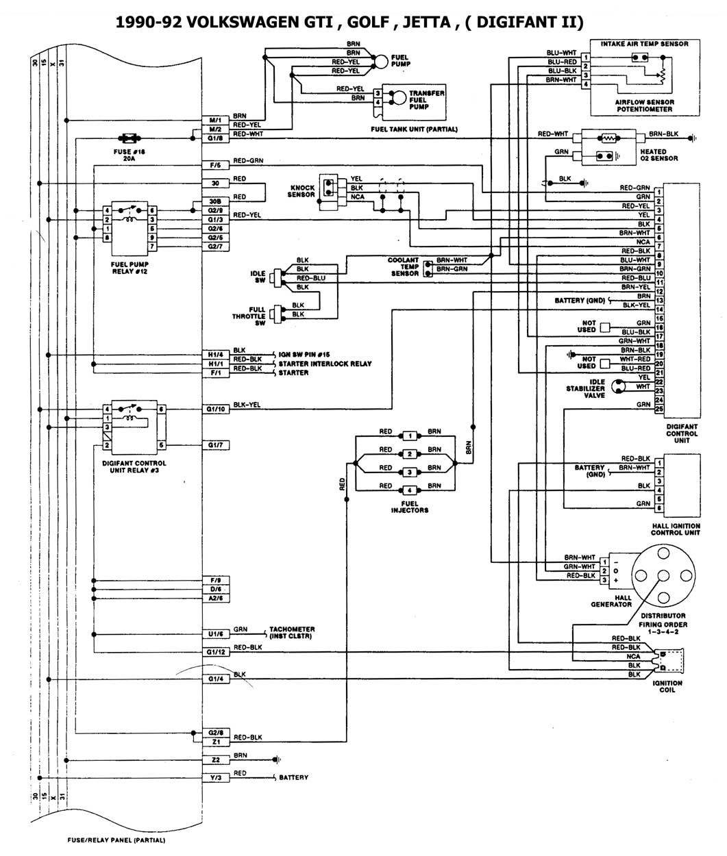 diagrama de ecu vw jetta 1996 1 8l