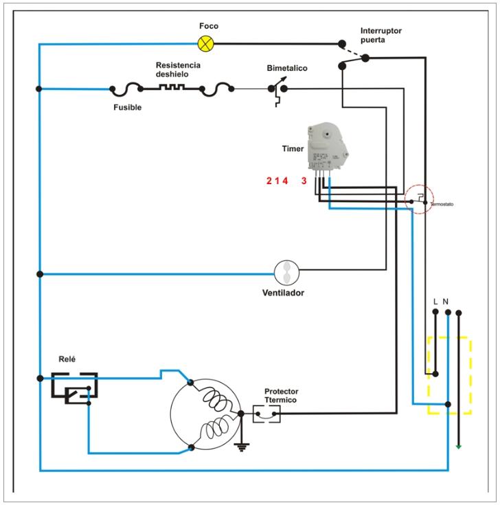 Circuito Electrico Heladera Comercial : Solucionado heladera no frost congela yoreparo